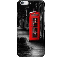 London Calling - Red British Telephone Box iPhone Case/Skin