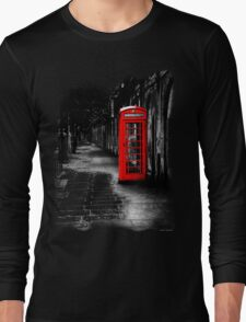 London Calling - Red British Telephone Box Long Sleeve T-Shirt