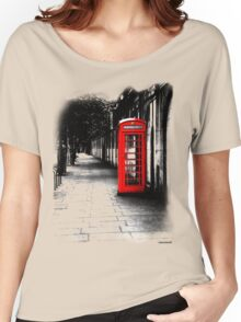 London Calling - Red British Telephone Box Women's Relaxed Fit T-Shirt