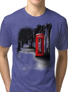 London Calling - Red British Telephone Box Tri-blend T-Shirt