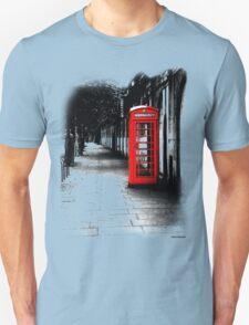 London Calling - Red British Telephone Box Unisex T-Shirt