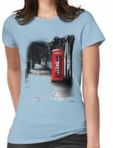 London Calling - Red British Telephone Box Womens Fitted T-Shirt
