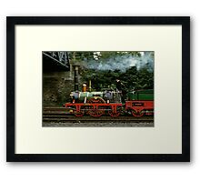 Adler steam locomotive replica underway in 1985,Germany. Framed Print