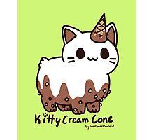 Sweet Treat Kitties - Kitty Cream Cone Photographic Print