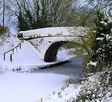 Battens bridge in the snow by Rob Hawkins