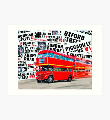 Classic Red London Double decker Routemaster Bus Art Print