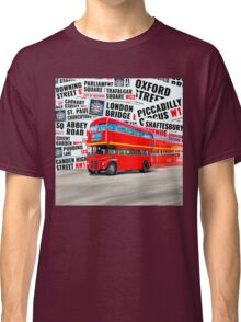 Classic Red London Double decker Routemaster Bus Classic T-Shirt