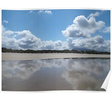 Beach and sky Poster