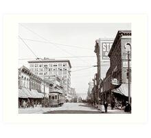 Vintage Downtown Birmingham Alabama Art Print