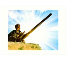 Vintage World War II Army Tank Commander Art Print