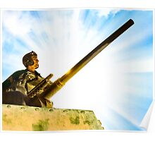 Vintage World War II Army Tank Commander Poster