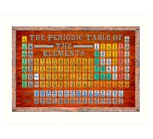 Victorian Style Periodic Table Of The Elements Art Print