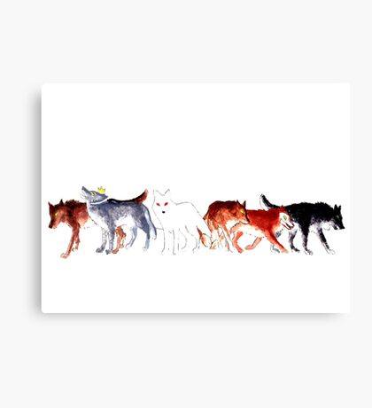 The Wolves of Winterfell Canvas Print