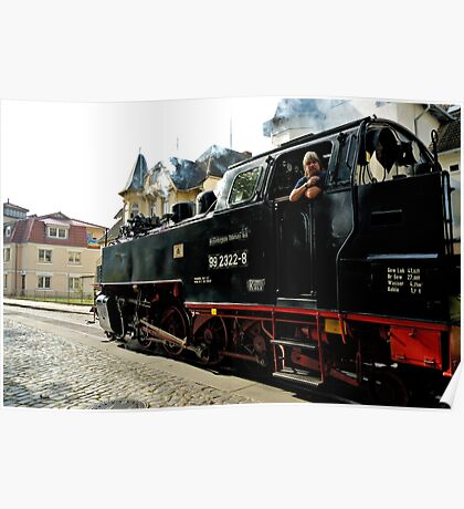 "MVP117 The ""Molli"" steam train in Bad Doberan, Germany. Poster"