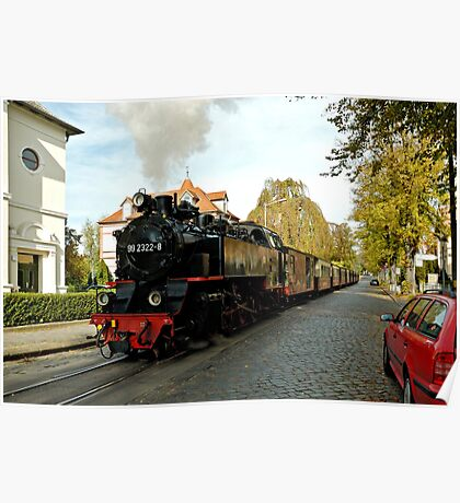 "MVP80 The ""Molli"" steam train in Bad Doberan, Germany. Poster"
