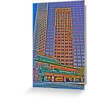 Financial district, reflections Greeting Card