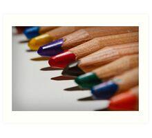 Colour Pencils Art Print