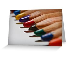 Colour Pencils Greeting Card
