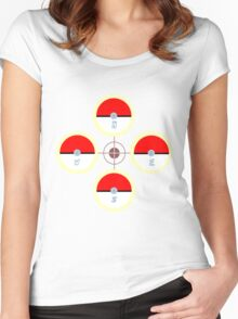Pokeball Compass Women's Fitted Scoop T-Shirt