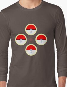 Pokeball Compass Long Sleeve T-Shirt