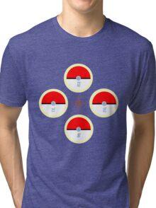 Pokeball Compass Tri-blend T-Shirt