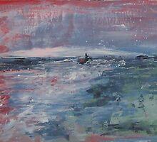 night sea by Dmitri Matkovsky