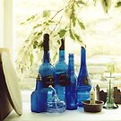 Still Life With Blue Bottles by Andrew  Bailey
