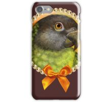 Senegal parrot realistic painting iPhone Case/Skin