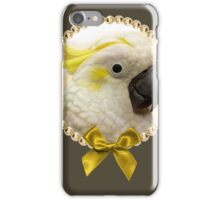 Sulfur Crested Cockatoo realistic painting iPhone Case/Skin