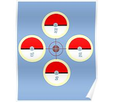 Pokeball Compass Poster
