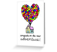 Congrats On The New Adventure! Greeting Card