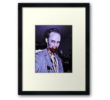 Smile, Mr. Zombie Framed Print