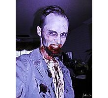 Smile, Mr. Zombie Photographic Print