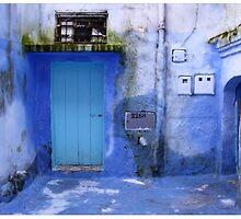 blue city by Piotr Gradziel