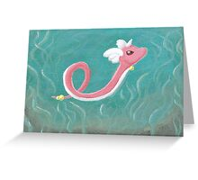 Shiny Dragonair Greeting Card