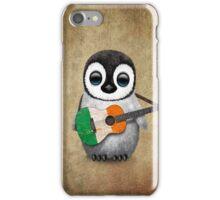 Baby Penguin Playing Irish Flag Guitar iPhone Case/Skin