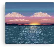 Tranquil Ocean Sunset Print Canvas Print