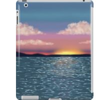 Tranquil Ocean Sunset Print iPad Case/Skin