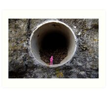 Petrified in Pink Art Print