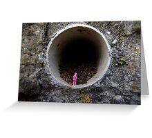 Petrified in Pink Greeting Card