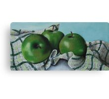 Green Apple Tea Towel II Canvas Print
