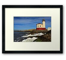 Coquille River Lighthouse At Bandon Framed Print