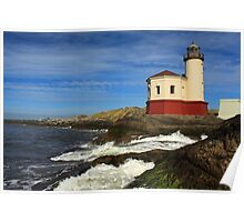 Coquille River Lighthouse At Bandon Poster