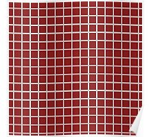 burgundy squares Poster