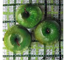 Ode to Granny Smith 3 apples Photographic Print
