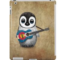 Baby Penguin Playing Colorado Flag Guitar iPad Case/Skin