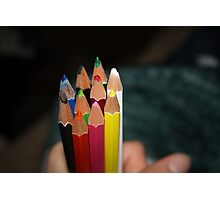 Water Coloured pencils Photographic Print
