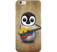 Baby Penguin Playing Colombian Flag Guitar iPhone Case/Skin