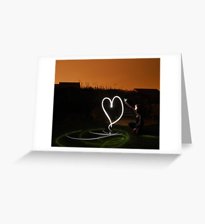 i ♥ light painting Greeting Card