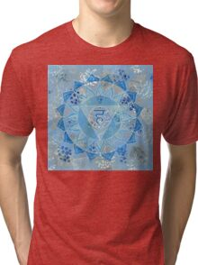 Fifth 5th Chakra Mandala Tri-blend T-Shirt